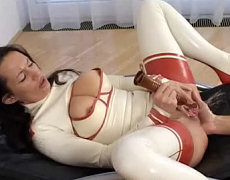 You`ve probably seen Babes that squirt, but have you ever seen a sweetheart that squirts meanwhile the nympho babe gets butt fisted at she same time! Angelina shows you have to achieve she incredible orgasm!