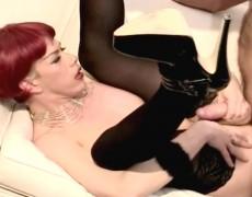 Slutty transvestite fucked over