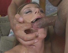 Very Xxxy milf gets her pretty face boned by horny hung dude