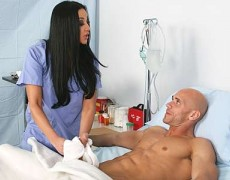 Busty staff nurse banging her patient till she pops his load on her