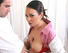 Busty Doctor gets screwed over hard up her tight small asshole