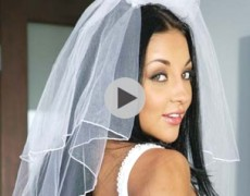 Is Audrey Bitoni as innocent as the whore looks wearing that bridal veil? the whore gives head and fucks way too well for that...