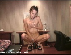 Karen stuffing her snatch with a brutal Xxx toy