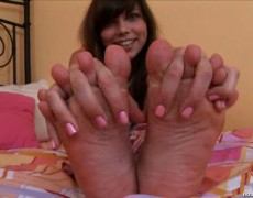 Sexy darling with cute feet